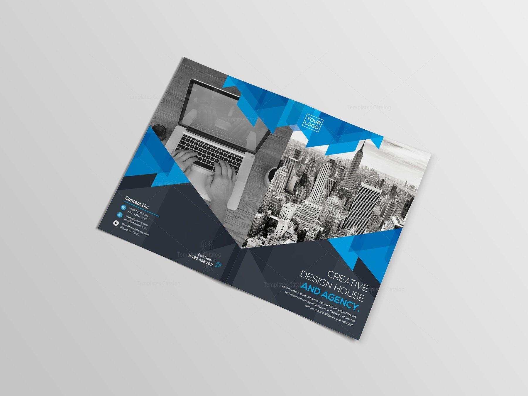 Psd Bifold Brochure Template Brochure Template Bi Fold Brochure