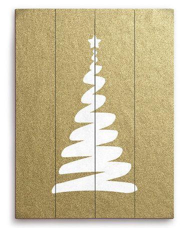 Look at this #zulilyfind! White Christmas Tree Wall Art #zulilyfinds ...