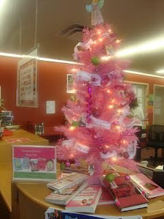 Library Decorations · Genre Trees For Christmas Display. This Is A Chick  Lit Tree.