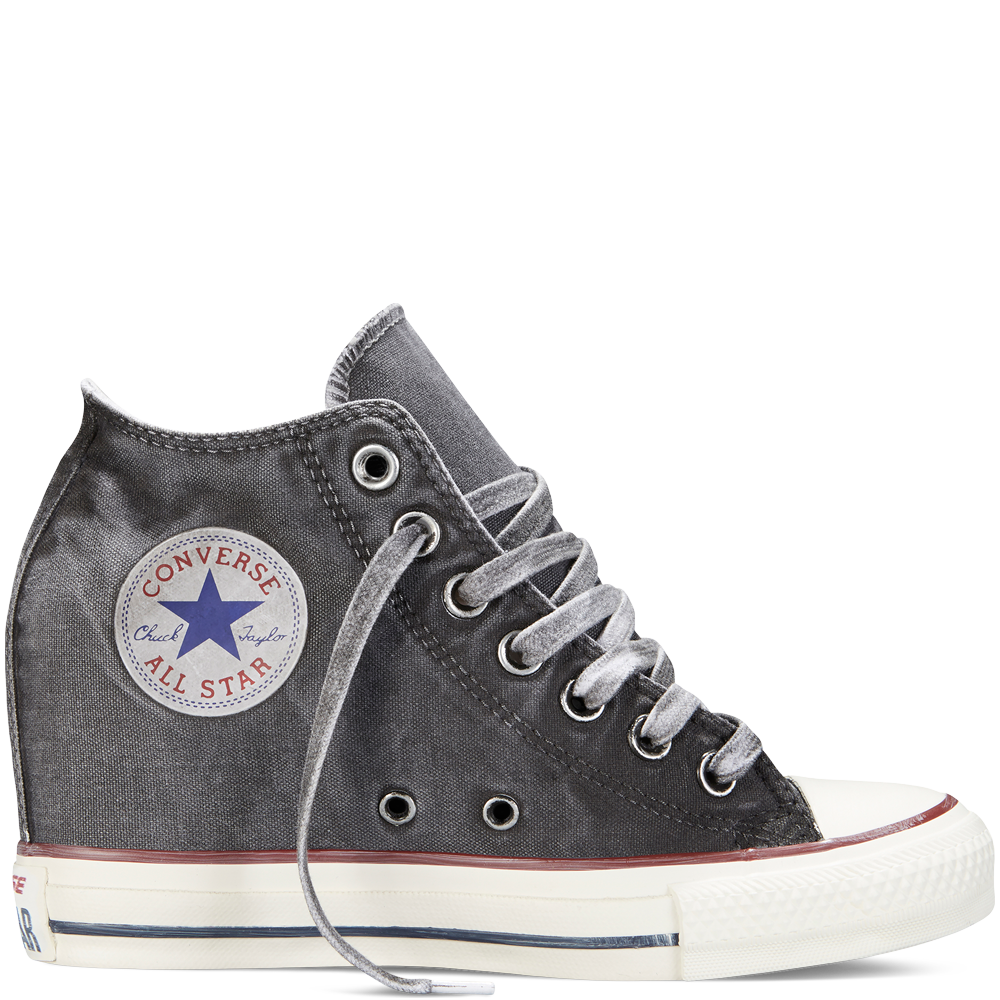 86427de764d1 Chuck Taylor All Star Lux Wedge Washed Canvas storm wind