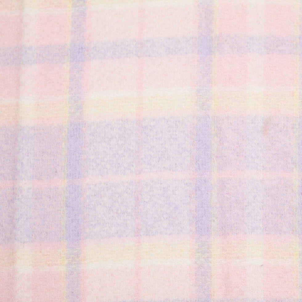 Pastel plaid wool fleece fabrics pinterest mood fabrics plaid