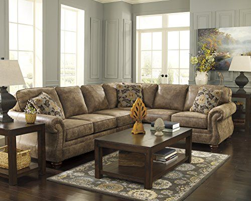 faux leather sectional. Larkinhurst Traditional Earth Color Faux Leather Sectional Sofa \u003e\u003e\u003e Check Out This Great Product