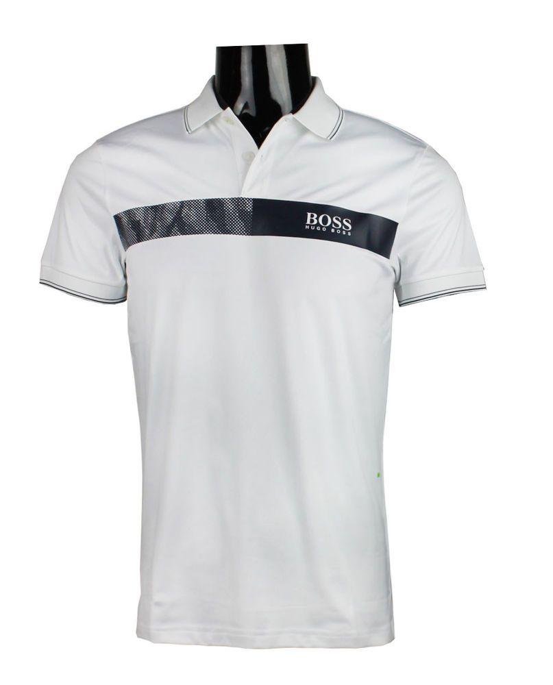 3ee136fc618 NWT Paule Pro 1 50379418 Hugo Boss Men's Polo Slim Fit s m l xl 2xl White # HUGOBOSS #MensGolfPoloShirt