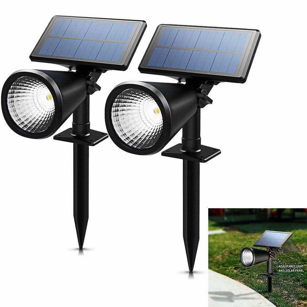 2 Pack Solar Powered Spotlight Outdoor Garden Lawn Landscape Waterproof Led Lamp Garden Lamp Landscape In 2020 Solar Powered Spotlight Waterproof Led Solar Power