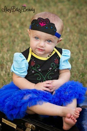 Baby Anna Pettidress Halloween Costume Frozen Dress Rhinestone - frozen halloween decorations