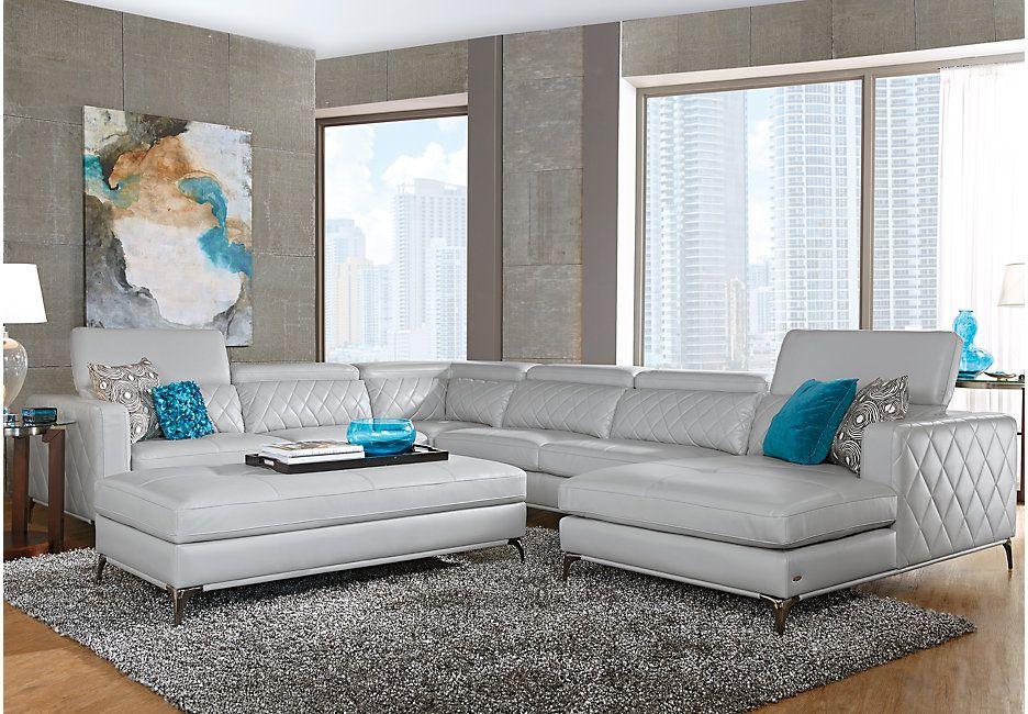 Sofia Vergara Sorrento Platinum 5 Pc Sectional Living Room In 2019