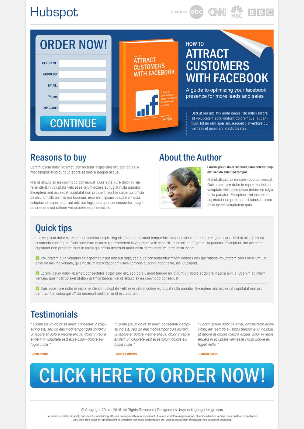 attract customers with facebook clean and converting