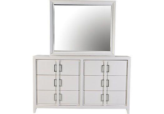 White Dresser Mirror Set