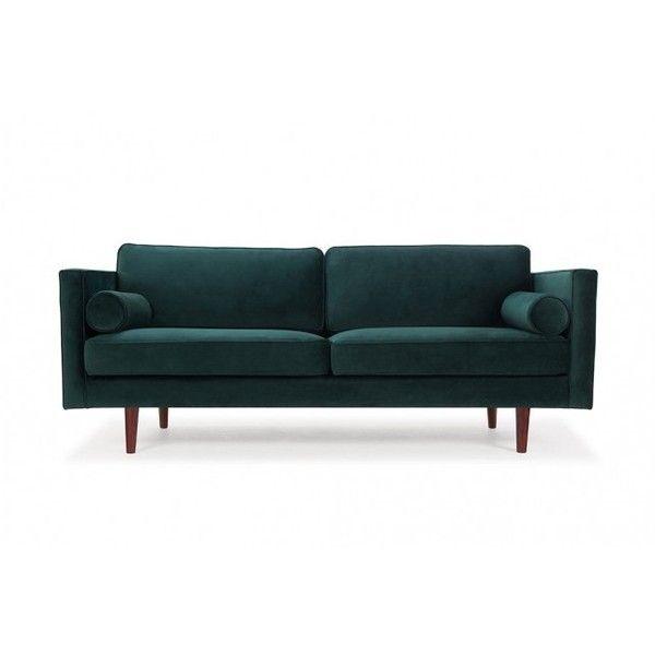 Harper 3 Seater Sofa Velour Dark