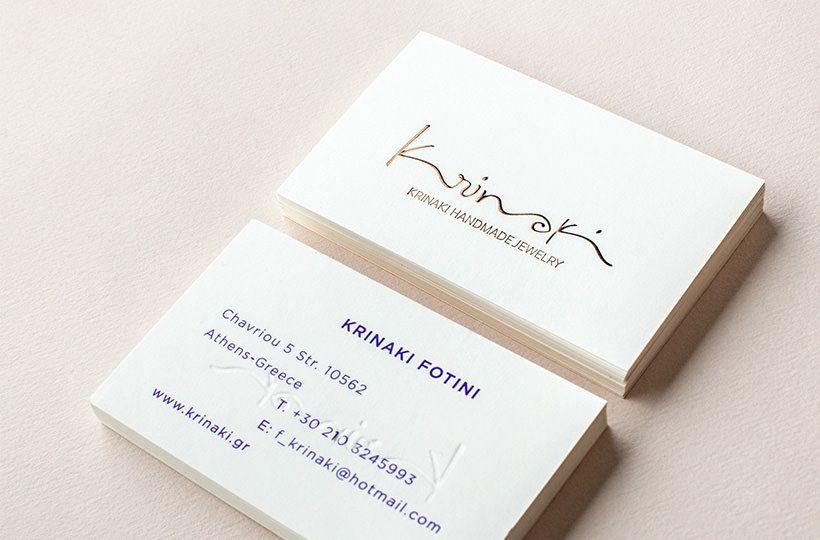 Kommigraphics krinaki jewelry krinaki branding business for Handmade jewelry business cards