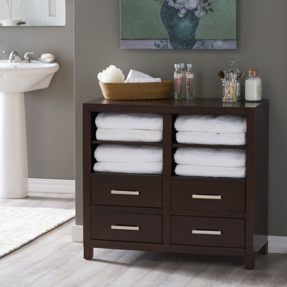 Belham Living Longbourn Bathroom Floor Cabinet Bathroom Floor