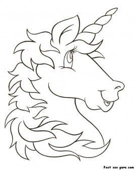 print out unicorn head