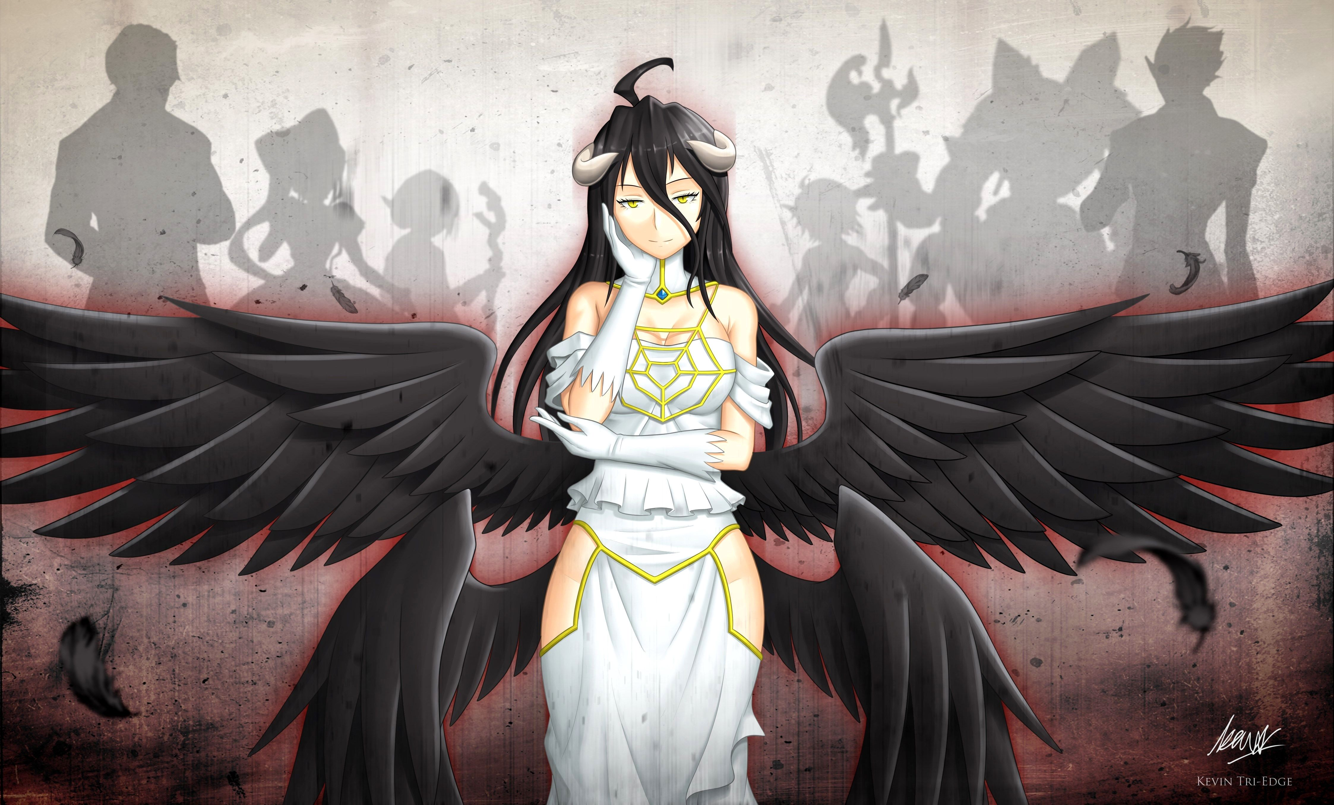 Wallpaper 4k Overlord Gallery In 2020 Anime Albedo Digital Wallpaper
