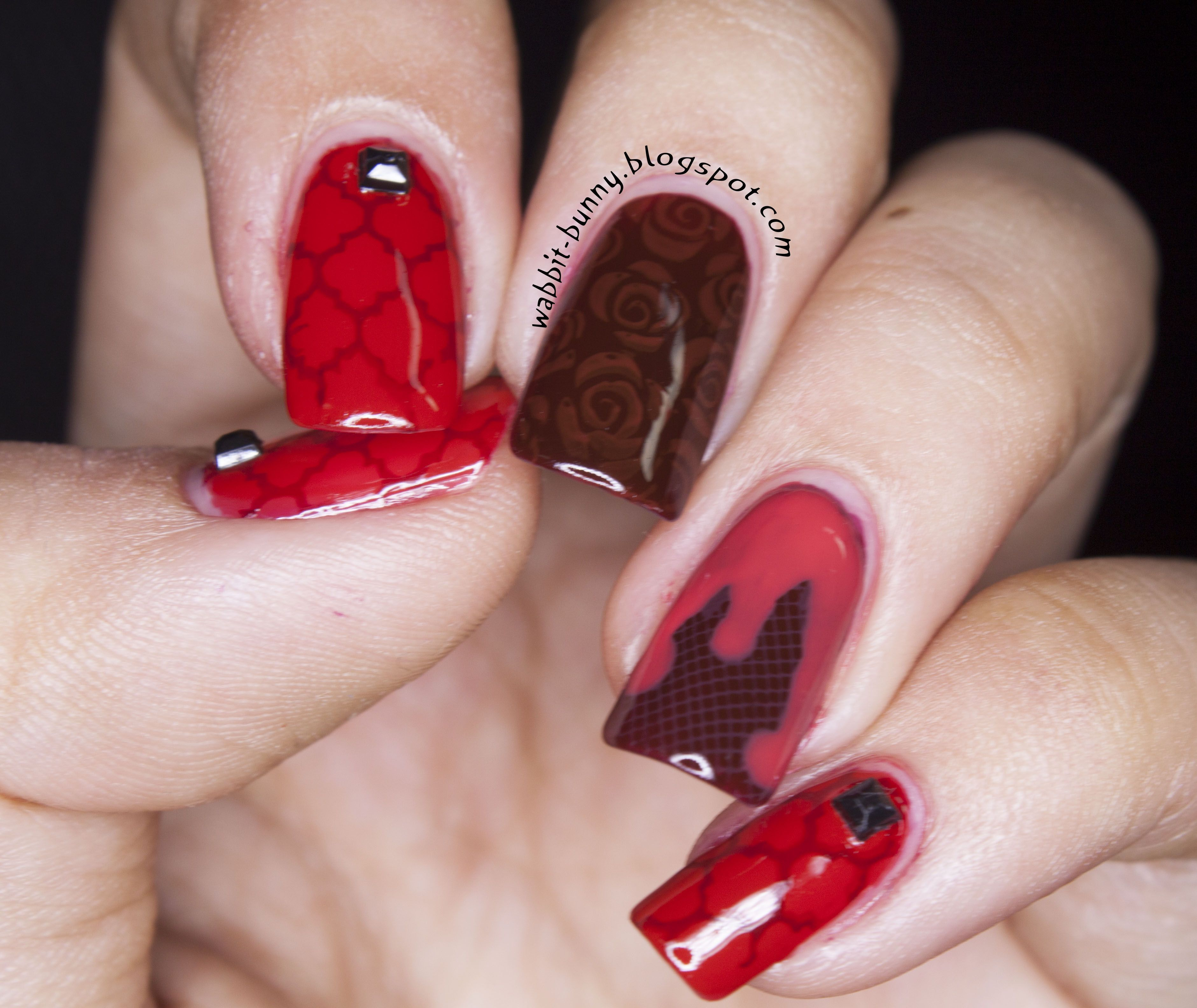 Inspired by The Vampire Diaries :) | Nail Art Community Pins ...