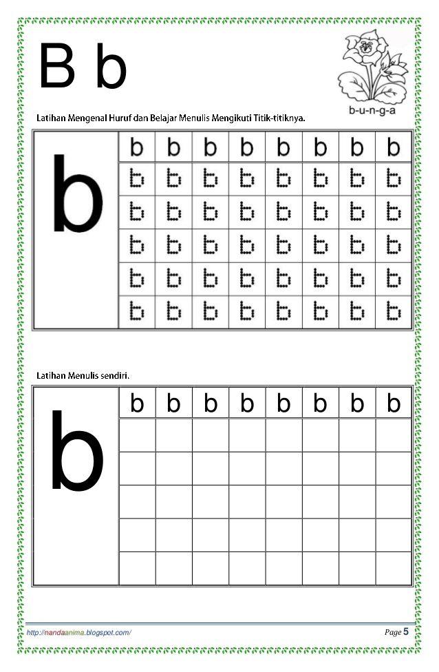 Belajar Mengenal Dan Menulis Huruf Abc Alphabet Worksheets Preschool Kids Handwriting Practice Preschool Learning Activities Titik d worksheets for kindergarten