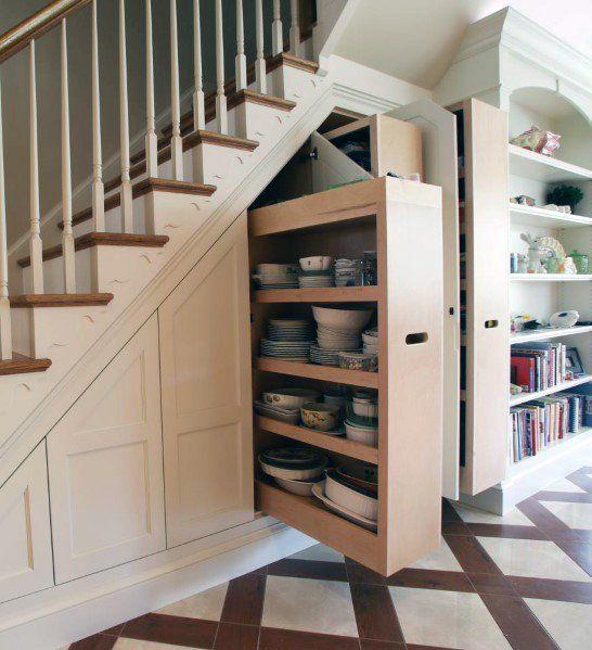 Top 70 Best Basement Stairs Ideas: Top 70 Best Under Stairs Ideas - Storage Designs