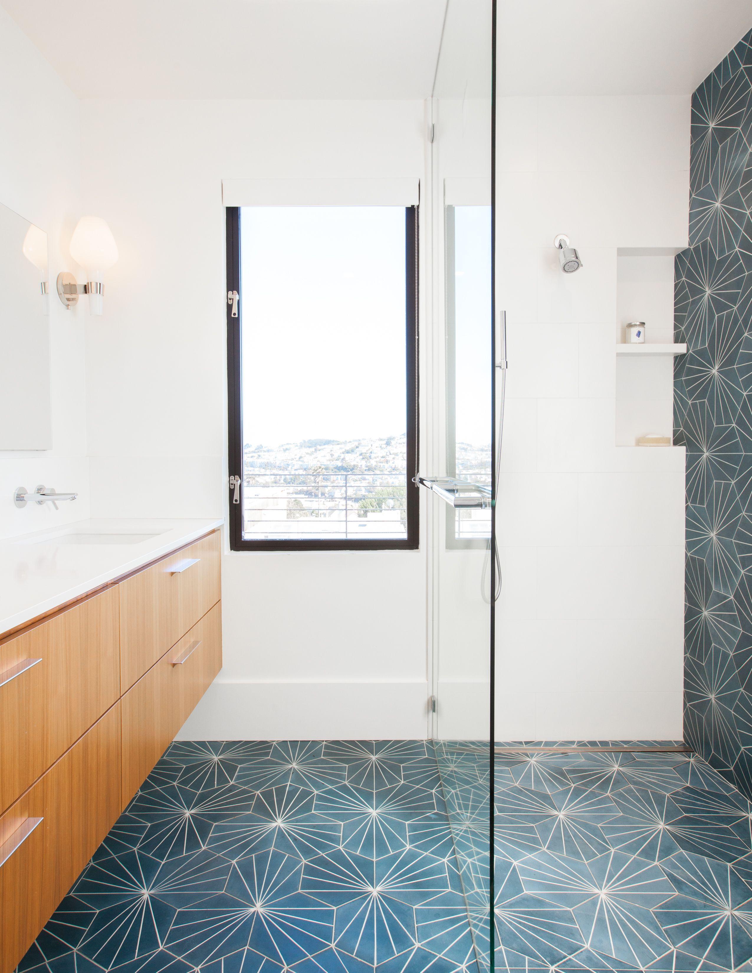 Glen Park House By Mcelroy Architecture Cement Tiles Bathroom Ceramic Floor Tiles Bath Tiles