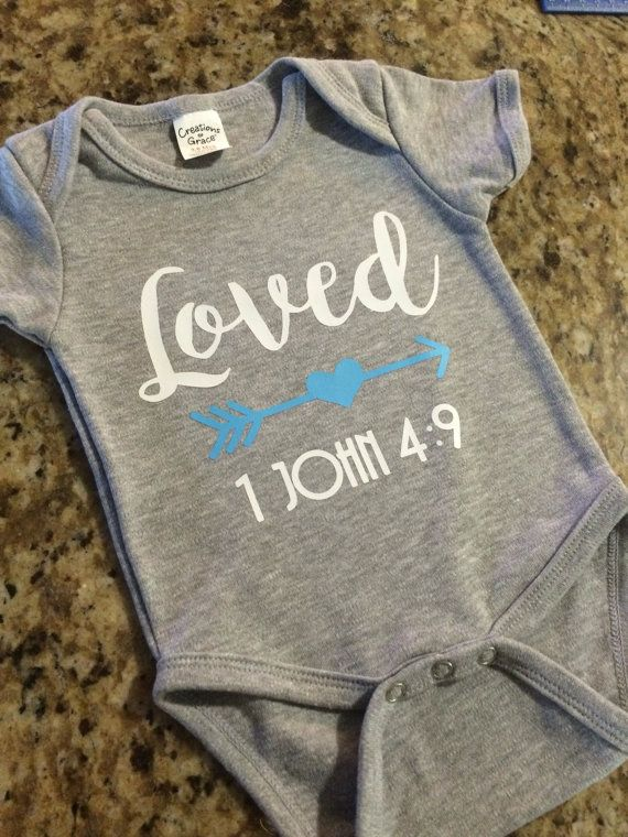 Loved Christian Onesie Bible Verse Baby Shower By RadDesignsCo