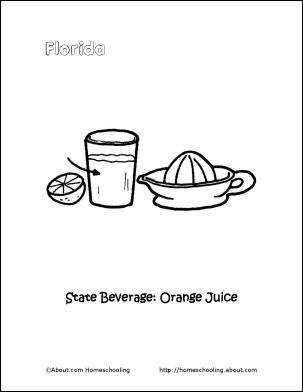 orange juice coloring pages - photo#25