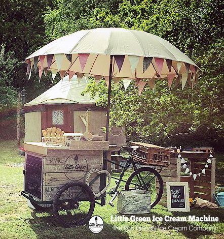 Little Green Ice Cream Machine Icecream Bike Hire Devon Ice