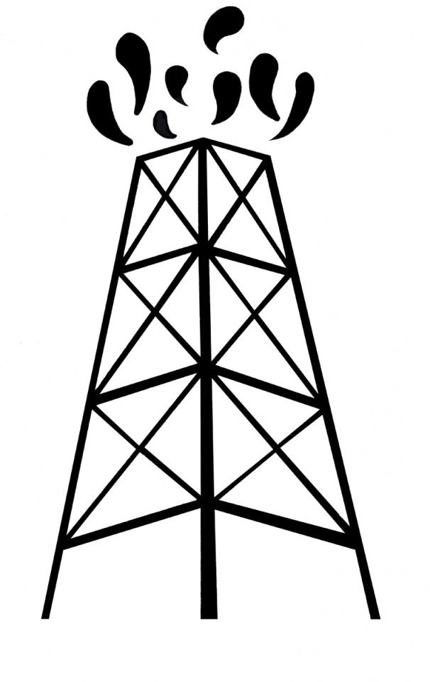 texas oil fields coloring pages