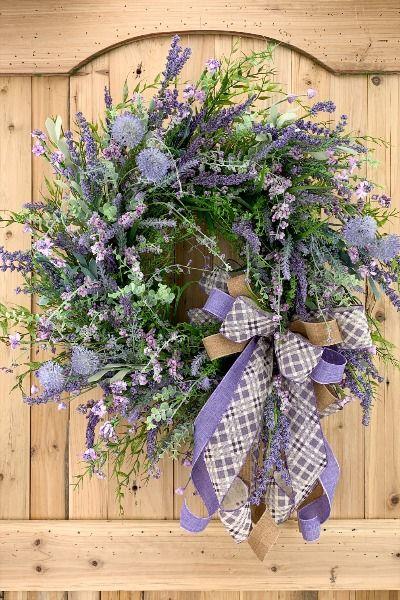 Photo of Spring wreath, everyday wreath, spring / summer home decor