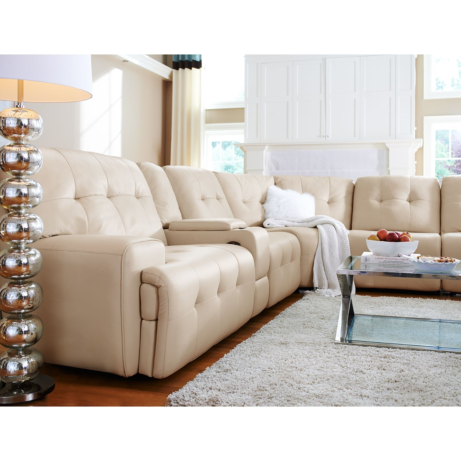 Magellan II 4 Pc Power Reclining Sectional with Music Console