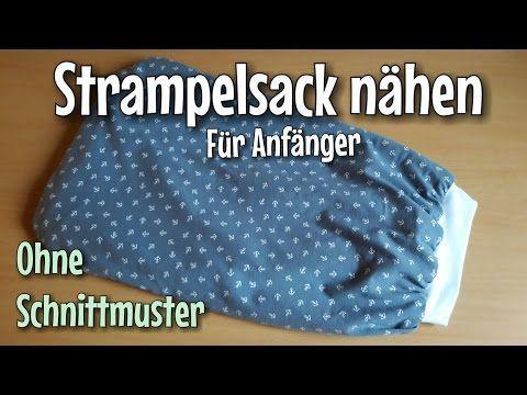 Strampelsack Nähanleitung - OHNE Schnittmuster- Anfänger ...