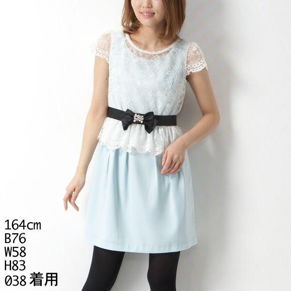 ドレス(ペプラムレースコクーンドレス)   レッセパッセ(LAISSE PASSE)   ファッション通販