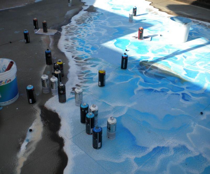 Mostrami è a Milano Marittima per #artonthebeach: progetto per la creazione di un #graffito in progress. #Day1