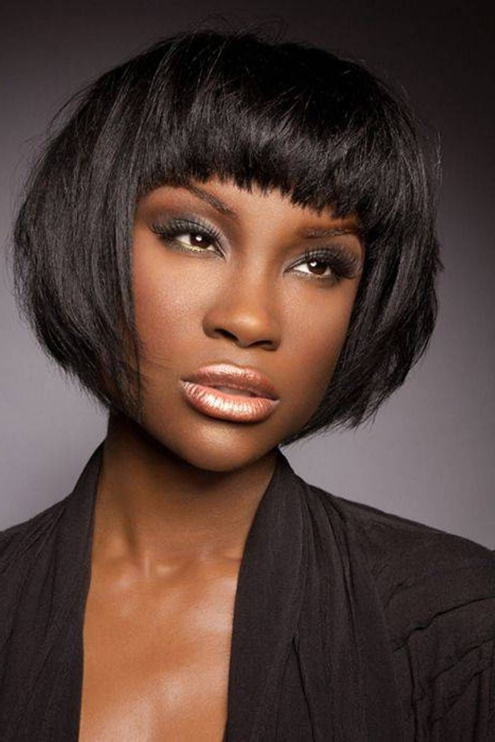 African Short Bob Hairstyle