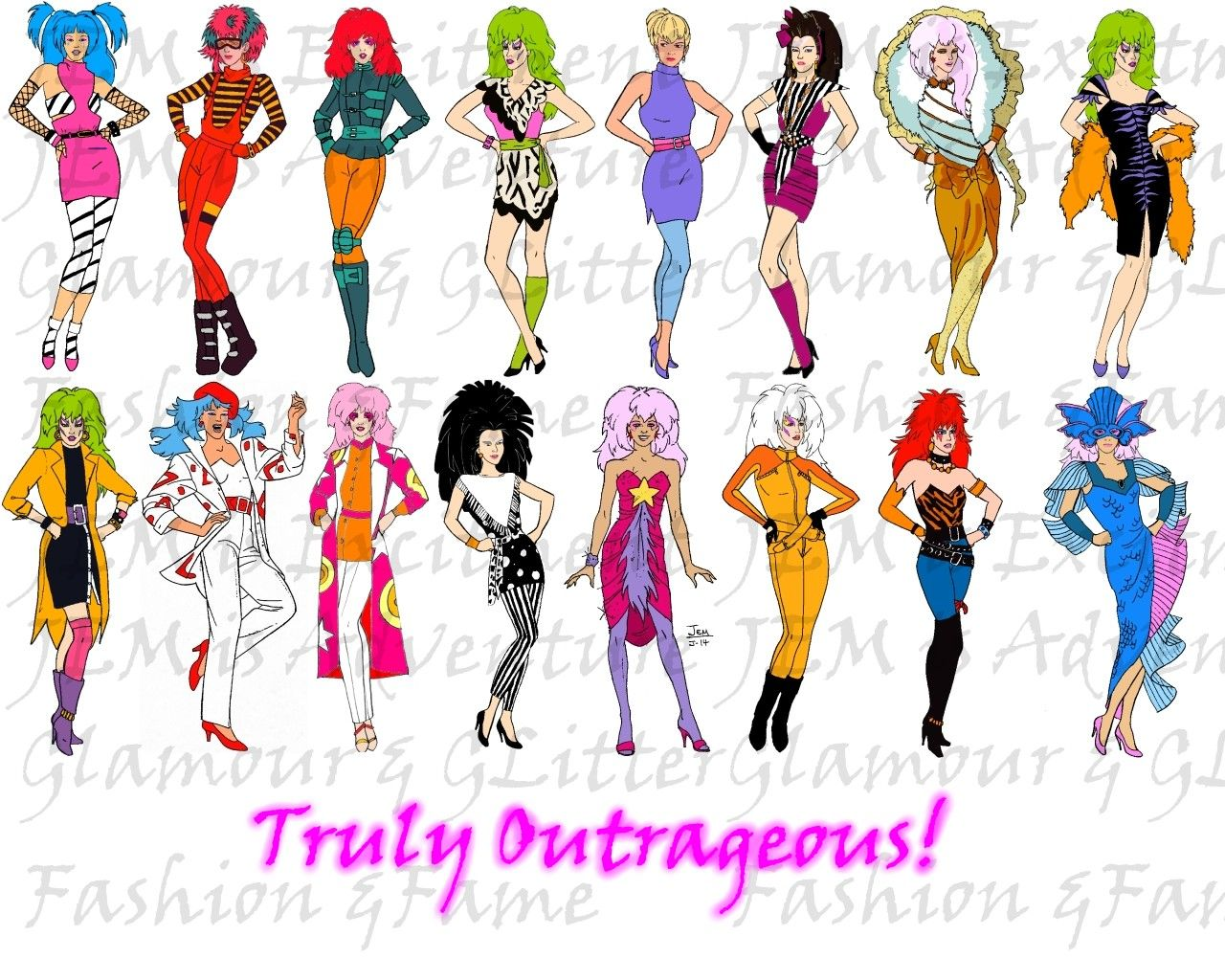 Jem Cartoon Character Outfits 80 S Cartoon Jem Is Finally On Tv Again Jem And The Holograms Jem Cartoon Gem And The Holograms