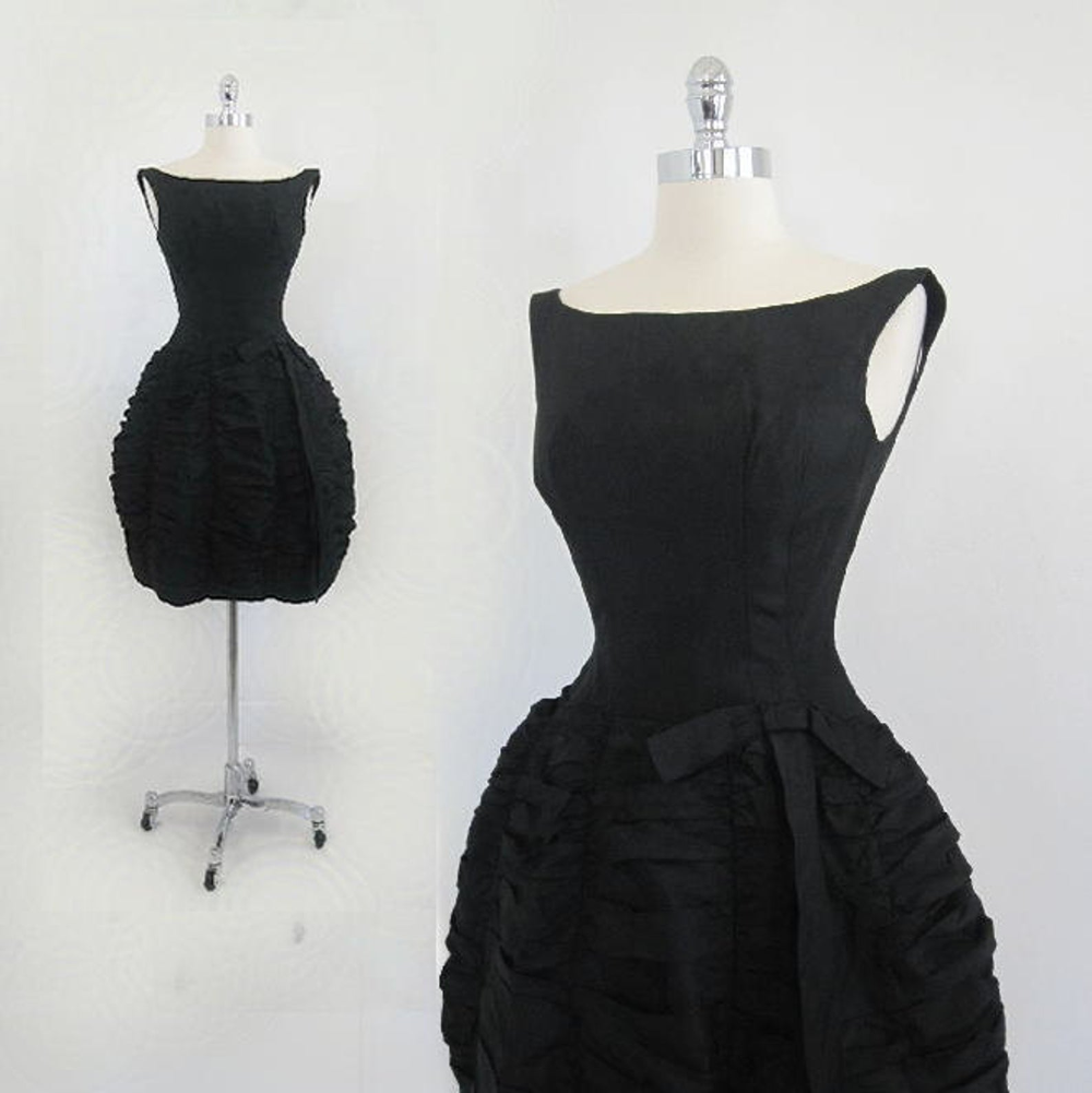 Reserved Vintage 50s 60s Black Sphere Bubble Skirt Party Etsy Bubble Skirt Dresses Evening Dresses [ 1001 x 1000 Pixel ]
