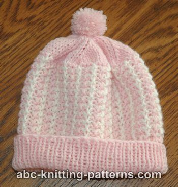 Two Color Baby Hat Free Pattern Knitting Lifelong Obsession
