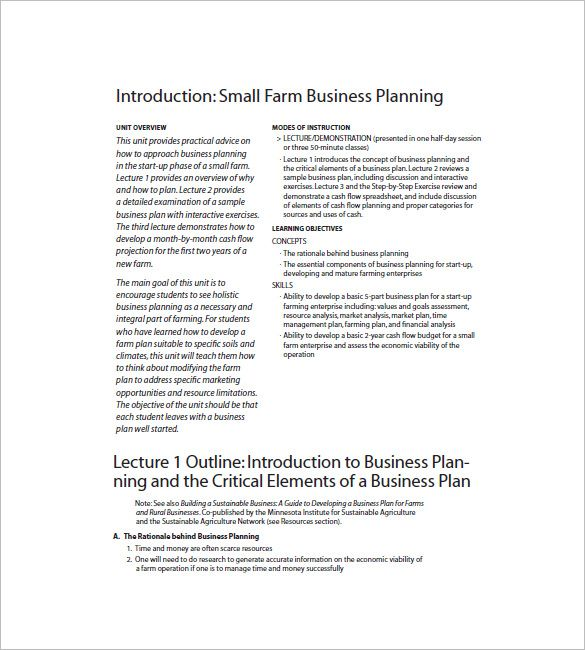 Developing A Business Plan For A Small Business Better Opinion
