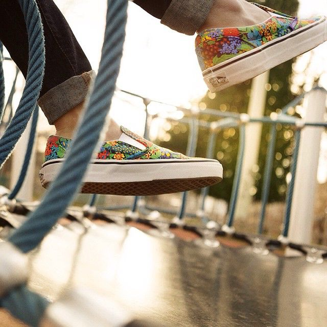 Put a little spring in your step with #LibertyPrint @vans.  Discover now in-store or online at Liberty.co.uk