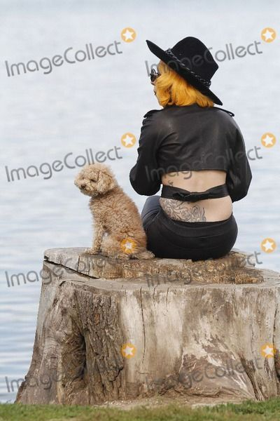 17 August 2012 - Bucharest, Romania - Lady Gaga and Fozzi. Following her concert in Constitution Square, Lady Gaga went for a walk in Herastrau Park. Photo Credit: Mihai Pop/Hepta/AdMedia