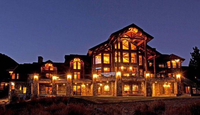 June Lake California Log Mansion Log Cabin Homes Log Homes Cabin Life