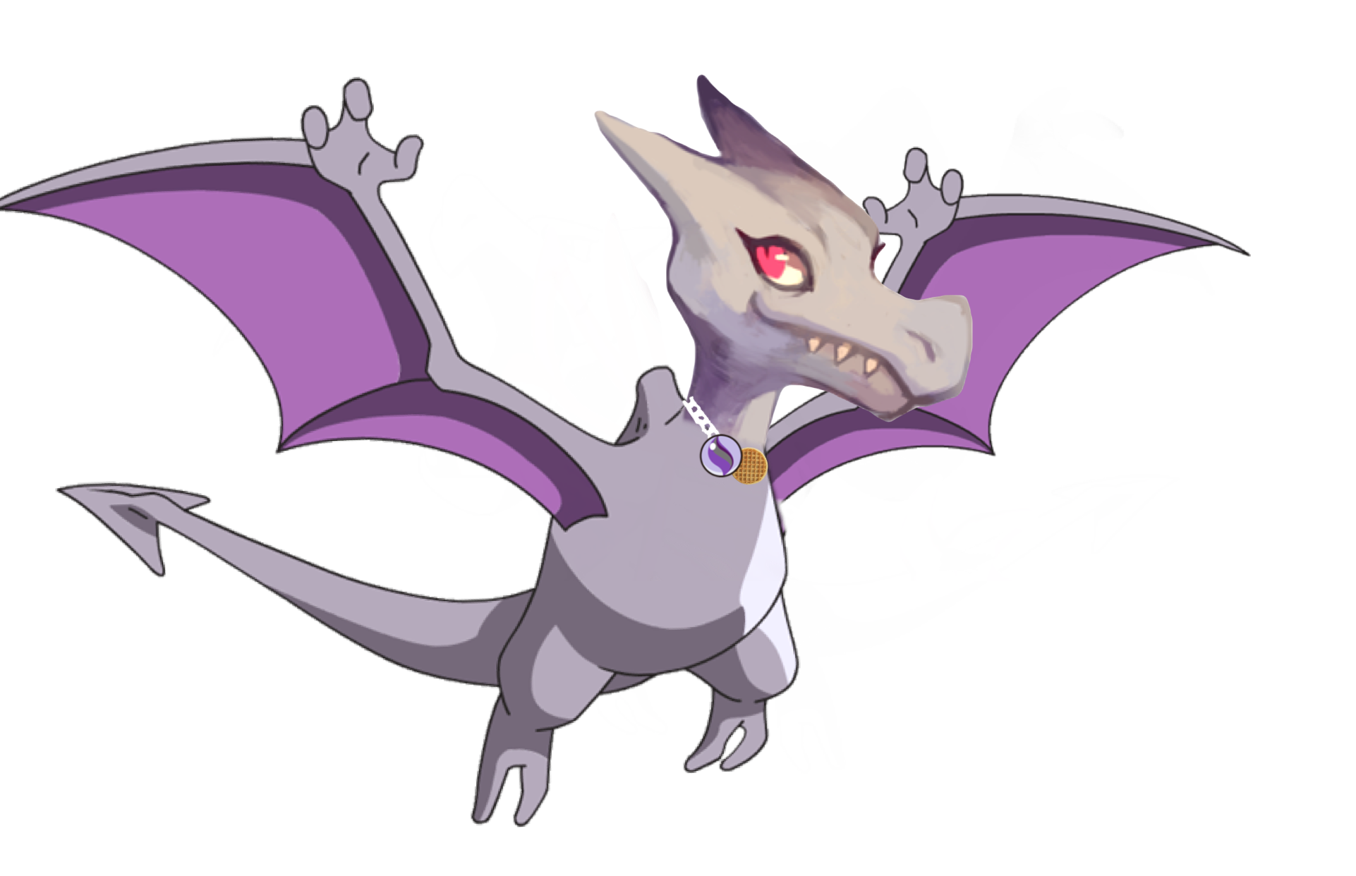 this is nia my aerodactyl from pokémon x she has the jolly nature