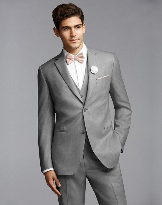 Two-Button Super 120s Notch Lapel Suit in Gray | The Men\'s ...