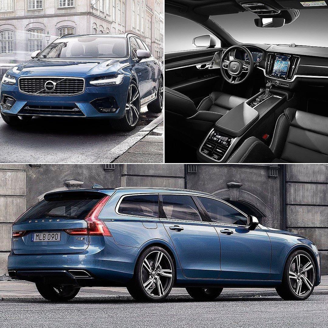 Volvo V90 Estate R-Design 2017 Marca Sueca Exibe A Linha