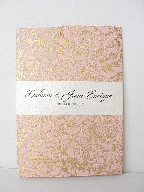 Wedding Invitation, Wedding Invite, Unique Invitation, Indian Invitation, Quinceanera Invitation, Pink Invitation, Pink Invite, SARAHIE -24
