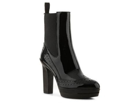 Santoni Women's Menswear Patent Bootie