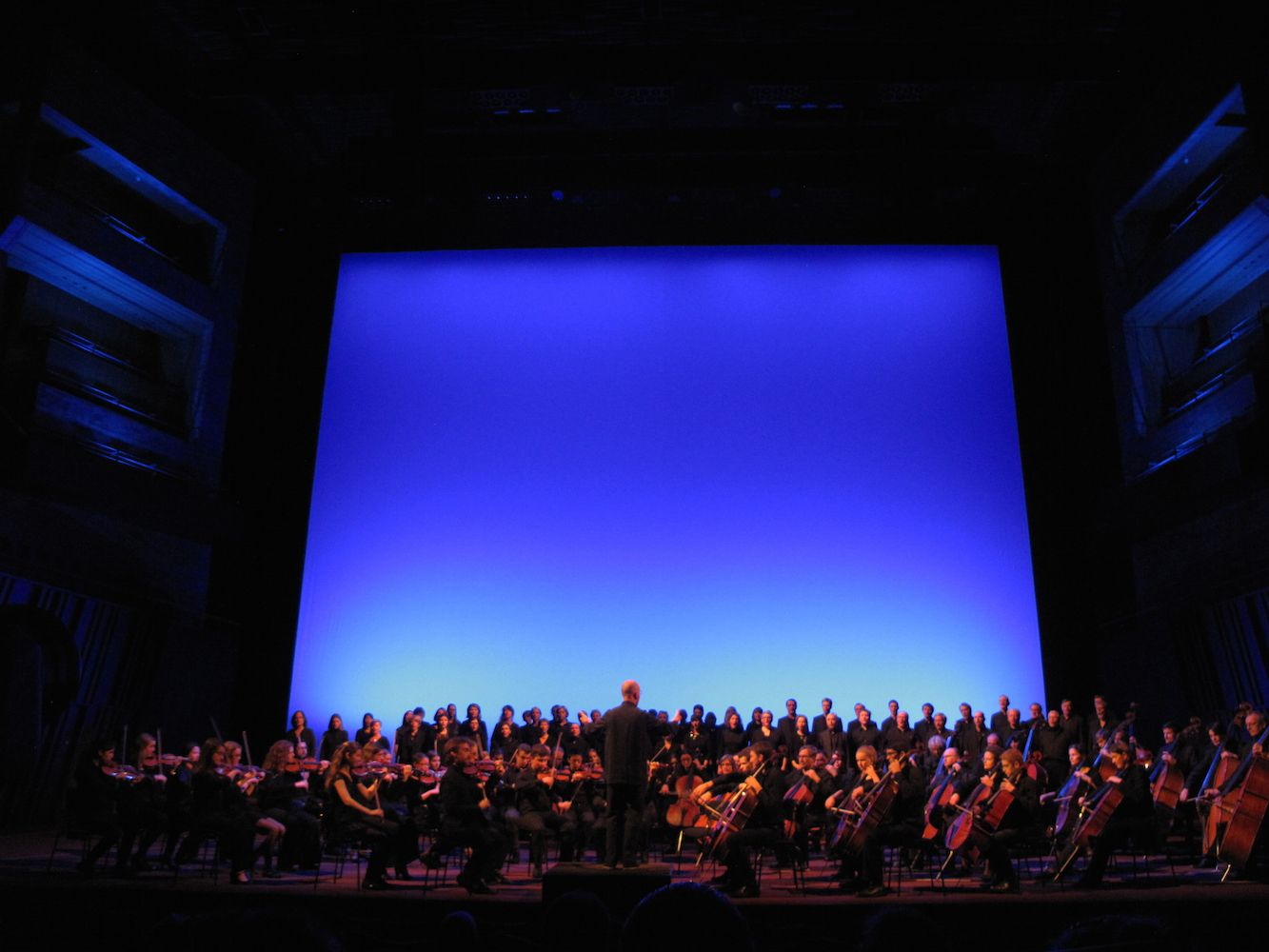 Mono Light - 2014 - Eric MICHEL   Commission for the Monoton-Silence Symphony by Yves Klein, Philharmonique Luxembourg   Photo credit © Eric Michel   more on www.bOssa-talents...