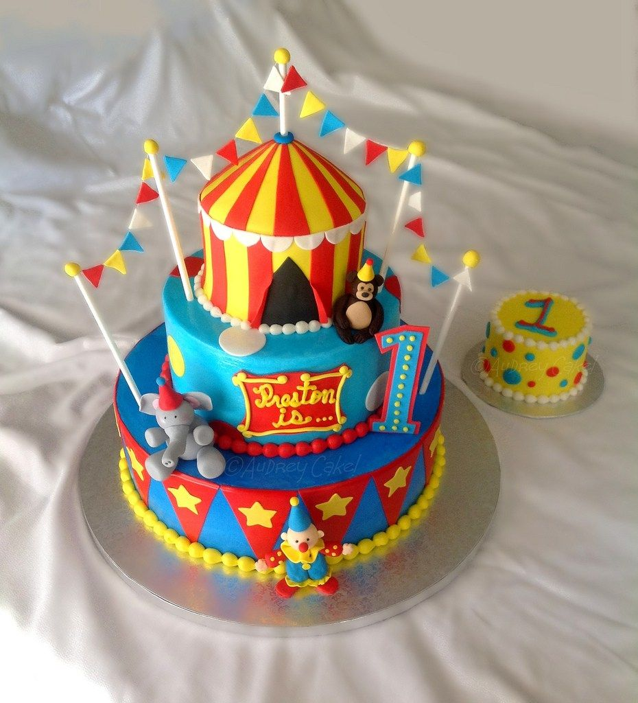 Cool Circus Birthday Cakes Circus Birthday Cake Colorful And Bright Personalised Birthday Cards Paralily Jamesorg