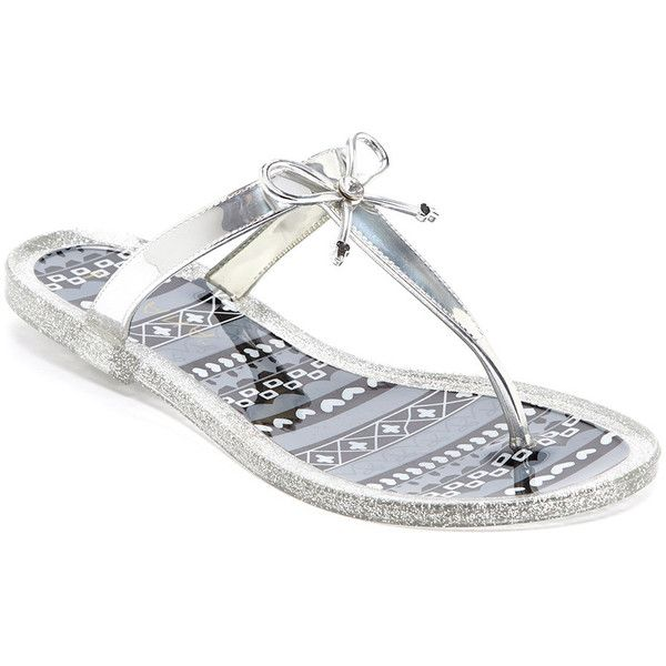 eac181f359d741 Women s Jelly Thong Sandal with Bow ( 19) ❤ liked on Polyvore featuring  shoes