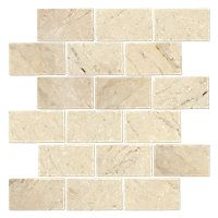 Queen Beige Tumbled Amalfi Marble Mosaic Tile 12 X 12 In
