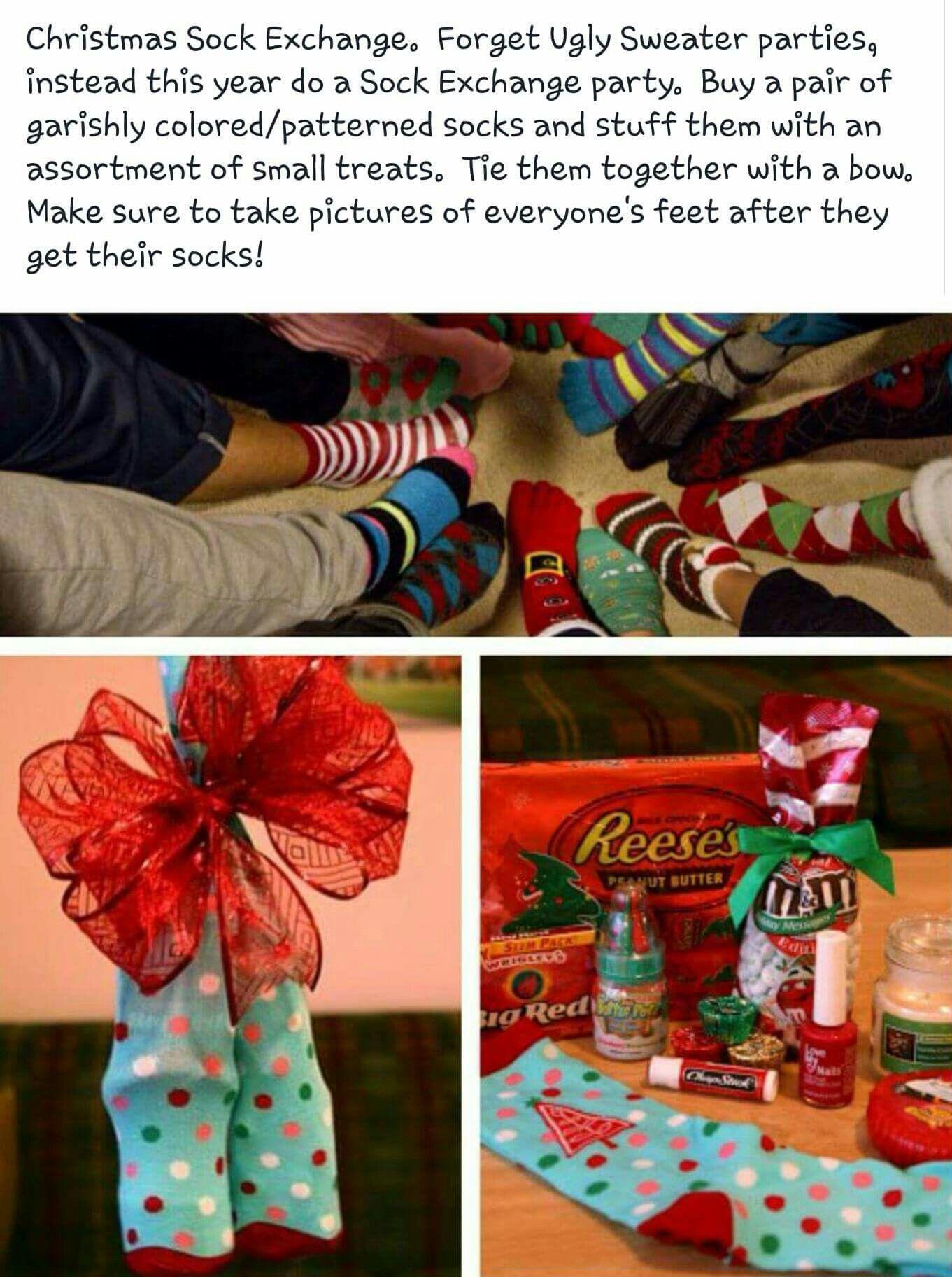 Christmas Sock Exchange Fun Gift Ideas Pinterest