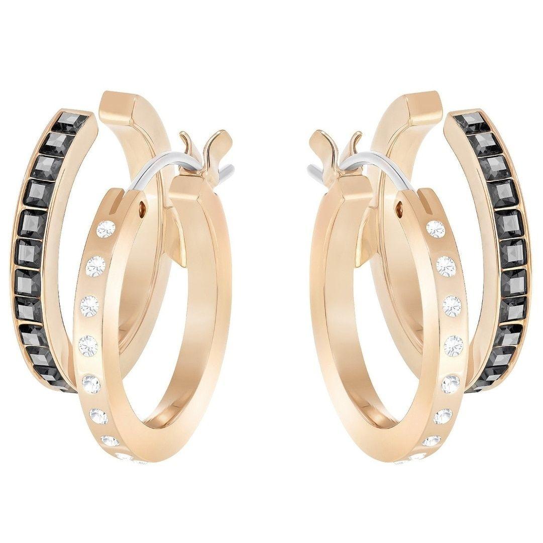 da9f3b945 Swarovski Hint Pierced Earrings - - Rose Gold Plating - 5364618, Women's