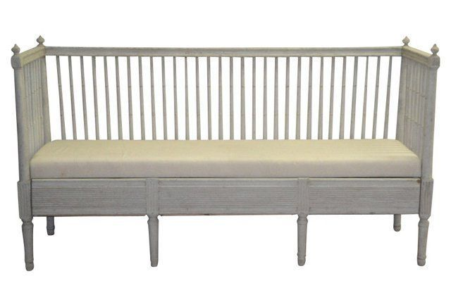 Swedish Gustavian Trundle Sofa